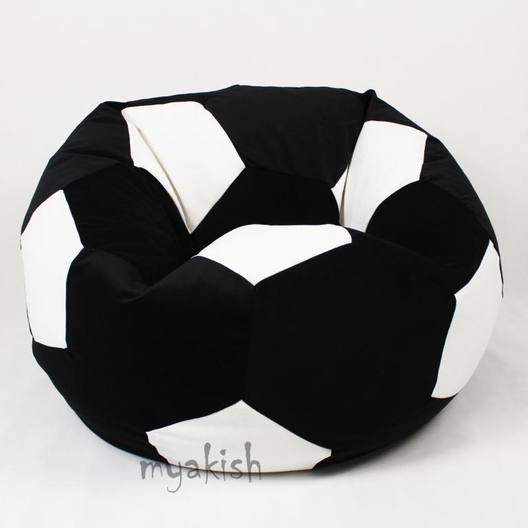 Кресло-мяч Велюр D100 Черно-Белый