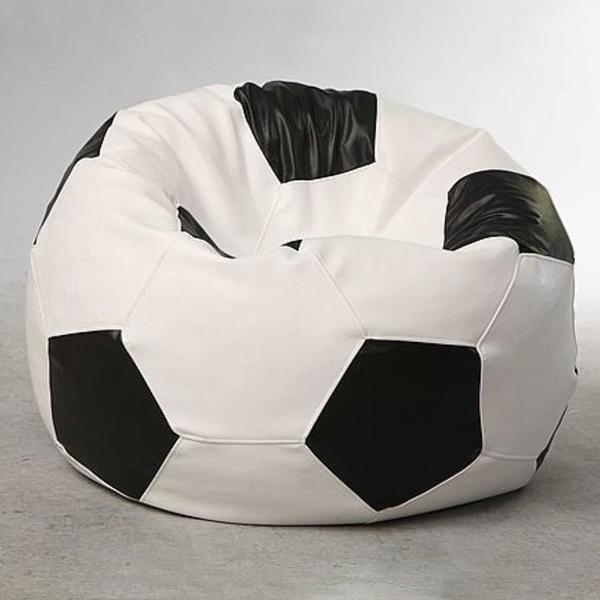 Кресло-мяч Экокожа D100см Бело-Черный