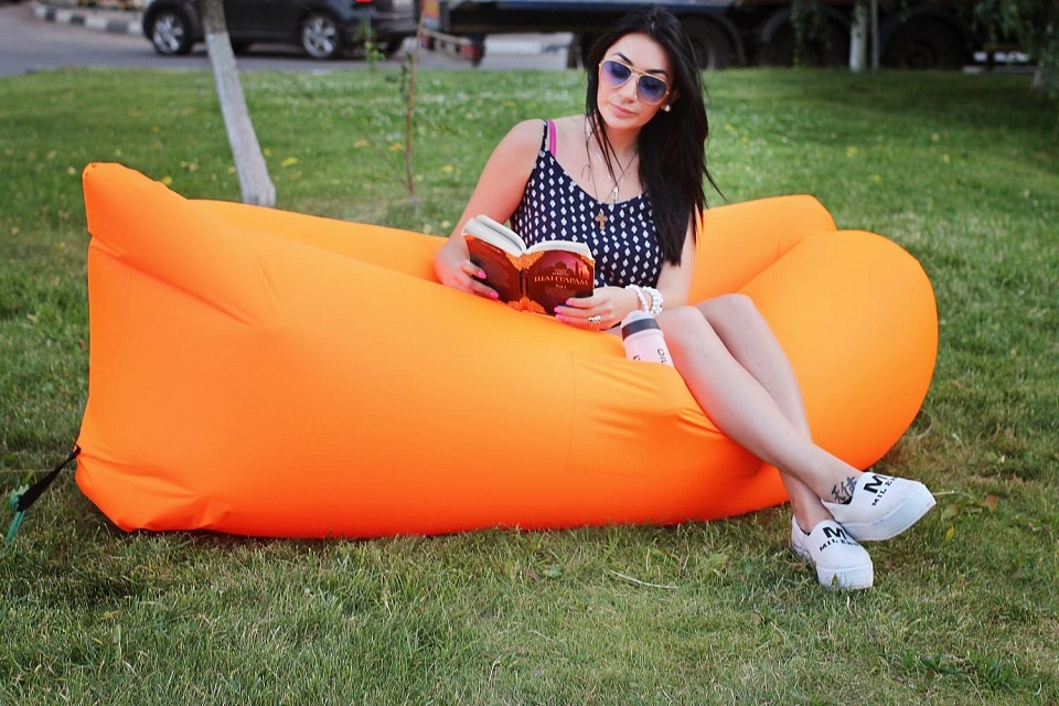 Надувной шезлонг Lamzac оранжевый